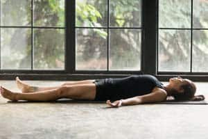 corpse stretching pose